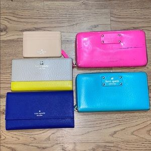 Lot of 5 Five Kate Spade New York Wallets Leather